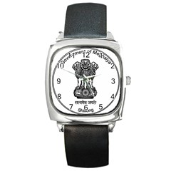 Seal Of Indian State Of Meghalaya Square Metal Watch by abbeyz71