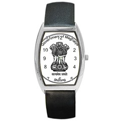 Seal Of Indian State Of Meghalaya Barrel Style Metal Watch by abbeyz71