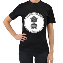 Seal Of Indian State Of Meghalaya Women s T Shirt (black) (two Sided) by abbeyz71