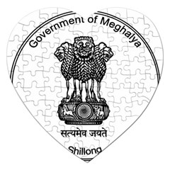 Seal Of Indian State Of Meghalaya Jigsaw Puzzle (heart) by abbeyz71
