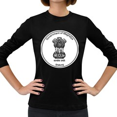 Seal Of Indian State Of Meghalaya Women s Long Sleeve Dark T Shirts by abbeyz71