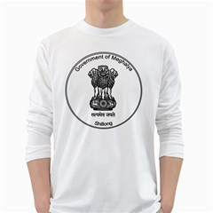 Seal Of Indian State Of Meghalaya White Long Sleeve T Shirts by abbeyz71