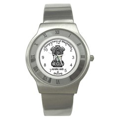 Seal Of Indian State Of Meghalaya Stainless Steel Watch by abbeyz71