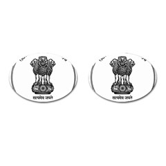 Seal Of Indian State Of Meghalaya Cufflinks (oval) by abbeyz71