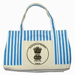 Seal Of Indian State Of Meghalaya Striped Blue Tote Bag by abbeyz71