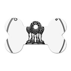 Seal Of Indian State Of Meghalaya Dog Tag Bone (two Sides) by abbeyz71