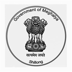 Seal Of Indian State Of Meghalaya Medium Glasses Cloth (2 Side) by abbeyz71