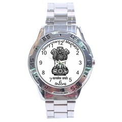 Seal Of Indian State Of Meghalaya Stainless Steel Analogue Watch by abbeyz71