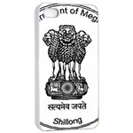 Seal of Indian State of Meghalaya Apple iPhone 4/4s Seamless Case (White) Front