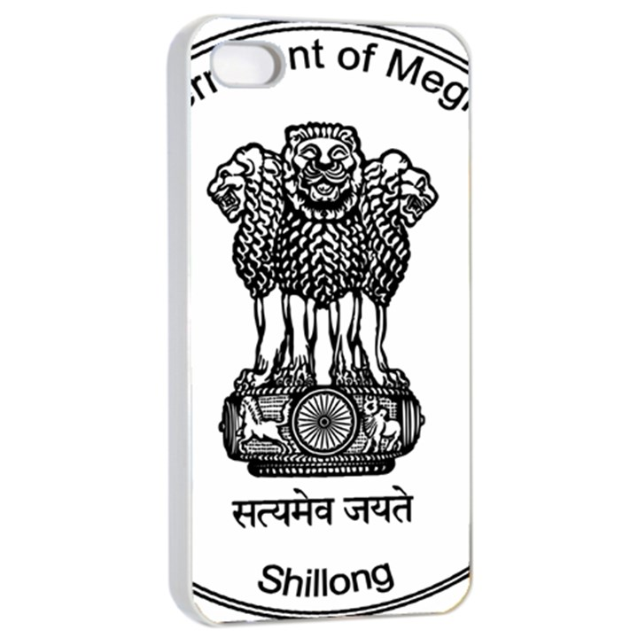 Seal of Indian State of Meghalaya Apple iPhone 4/4s Seamless Case (White)