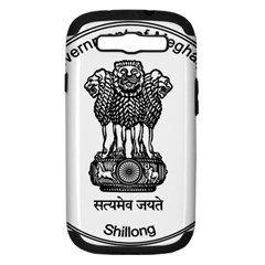 Seal Of Indian State Of Meghalaya Samsung Galaxy S Iii Hardshell Case (pc+silicone) by abbeyz71