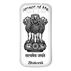 Seal Of Indian State Of Meghalaya Samsung Galaxy S3 Back Case (white) by abbeyz71