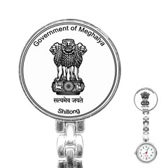 Seal Of Indian State Of Meghalaya Stainless Steel Nurses Watch by abbeyz71