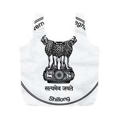 Seal Of Indian State Of Meghalaya Full Print Recycle Bags (m)  by abbeyz71