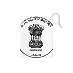 Seal Of Indian State Of Meghalaya Drawstring Pouches (small)  by abbeyz71