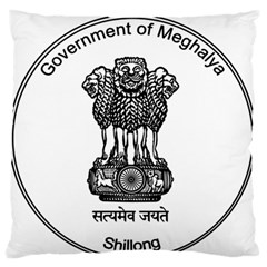 Seal Of Indian State Of Meghalaya Large Flano Cushion Case (two Sides) by abbeyz71
