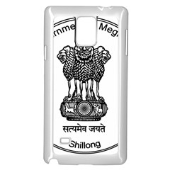 Seal Of Indian State Of Meghalaya Samsung Galaxy Note 4 Case (white) by abbeyz71