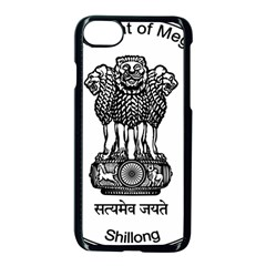 Seal Of Indian State Of Meghalaya Apple Iphone 7 Seamless Case (black) by abbeyz71