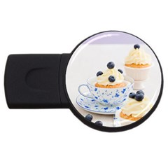 Blueberry Cupcakes Usb Flash Drive Round (4 Gb)