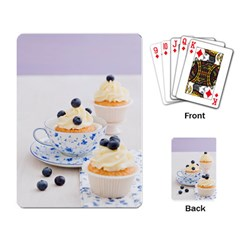 Blueberry Cupcakes Playing Card