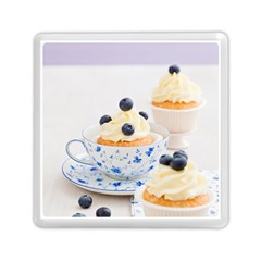 Blueberry Cupcakes Memory Card Reader (square)  by Coelfen