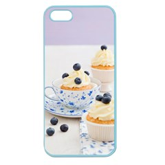 Blueberry Cupcakes Apple Seamless Iphone 5 Case (color) by Coelfen