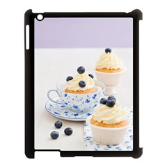 Blueberry Cupcakes Apple Ipad 3/4 Case (black) by Coelfen
