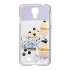 Blueberry Cupcakes Samsung Galaxy S4 I9500/ I9505 Case (white) by Coelfen