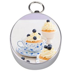 Blueberry Cupcakes Silver Compasses by Coelfen