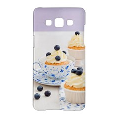 Blueberry Cupcakes Samsung Galaxy A5 Hardshell Case  by Coelfen