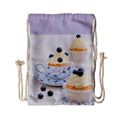 Blueberry Cupcakes Drawstring Bag (small) by Coelfen