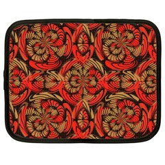 Red And Brown Pattern Netbook Case (xl)  by linceazul