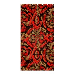 Red And Brown Pattern Shower Curtain 36  X 72  (stall)