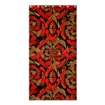 Red And Brown Pattern Shower Curtain 36  x 72  (Stall)  33.26 x66.24 Curtain