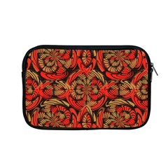 Red And Brown Pattern Apple Macbook Pro 13  Zipper Case by linceazul