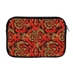 Red And Brown Pattern Apple Macbook Pro 17  Zipper Case by linceazul