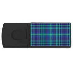 Plaid Design Usb Flash Drive Rectangular (4 Gb) by Valentinaart