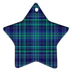Plaid Design Star Ornament (two Sides) by Valentinaart