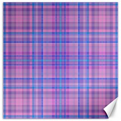 Plaid Design Canvas 20  X 20   by Valentinaart
