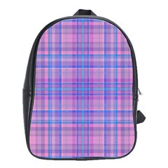 Plaid Design School Bags(large)  by Valentinaart