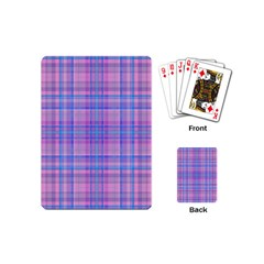 Plaid Design Playing Cards (mini)  by Valentinaart