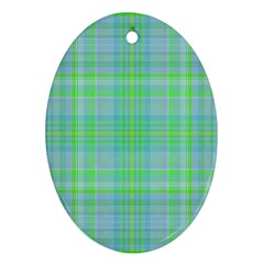 Plaid Design Ornament (oval) by Valentinaart