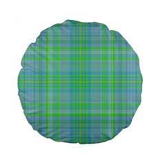Plaid Design Standard 15  Premium Round Cushions