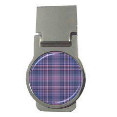 Plaid Design Money Clips (round)  by Valentinaart