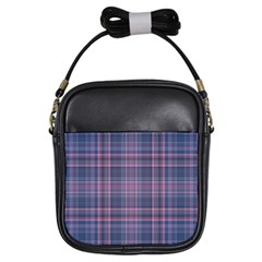 Plaid Design Girls Sling Bags by Valentinaart