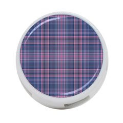 Plaid Design 4 Port Usb Hub (one Side) by Valentinaart