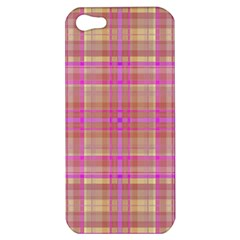 Plaid Design Apple Iphone 5 Hardshell Case by Valentinaart