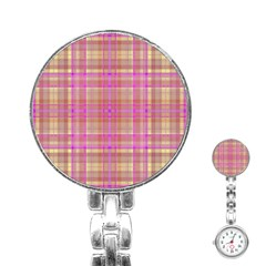 Plaid Design Stainless Steel Nurses Watch by Valentinaart