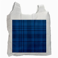 Plaid Design Recycle Bag (one Side)