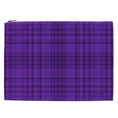 Plaid Design Cosmetic Bag (xxl)  by Valentinaart